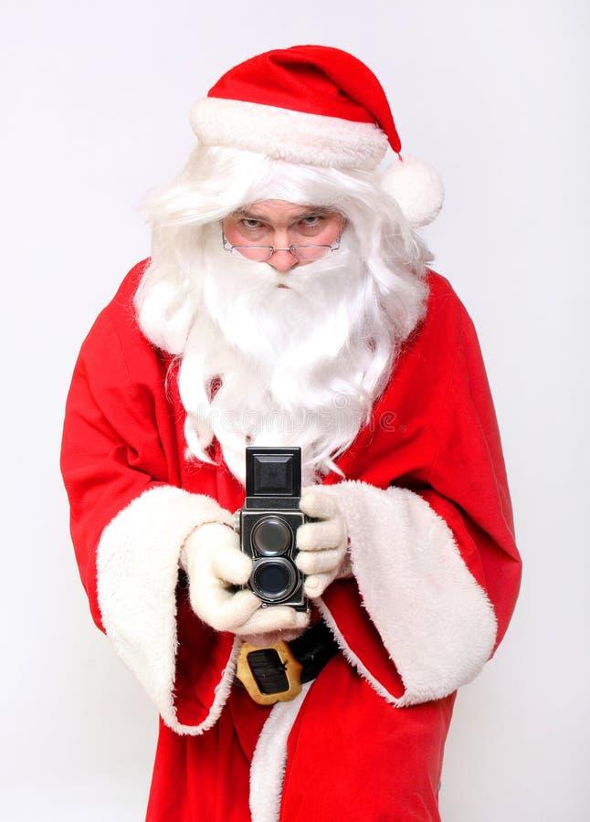 De fotograaf van de Kerstman royalty-vrije stock foto's