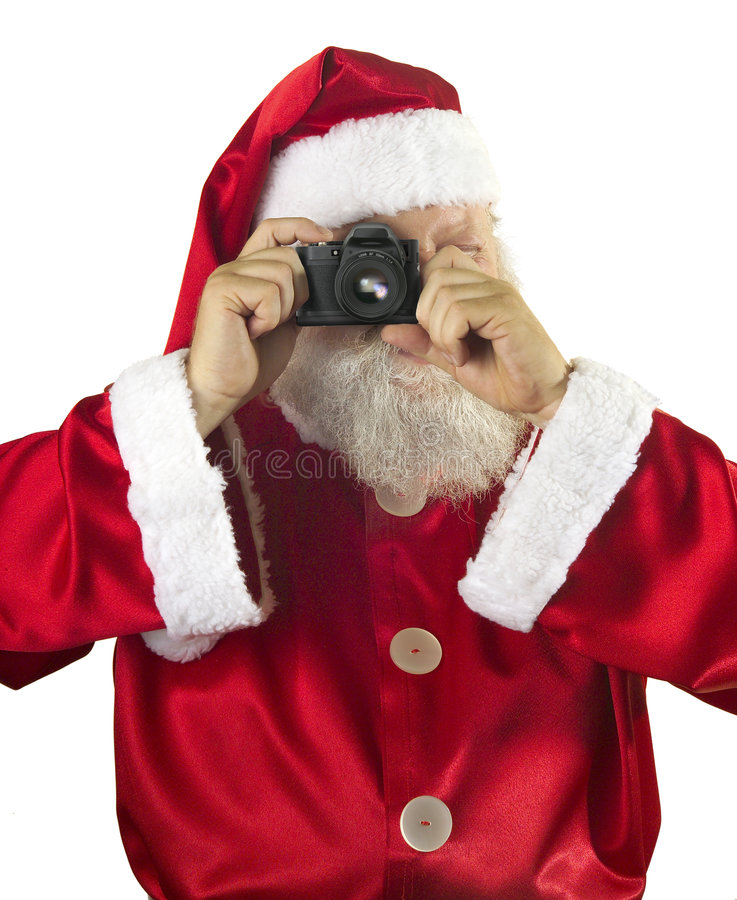 De fotograaf van de Kerstman stock foto