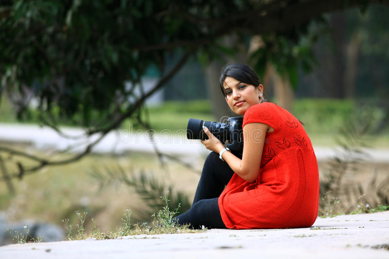 De fotograaf van het meisje royalty-vrije stock afbeeldingen