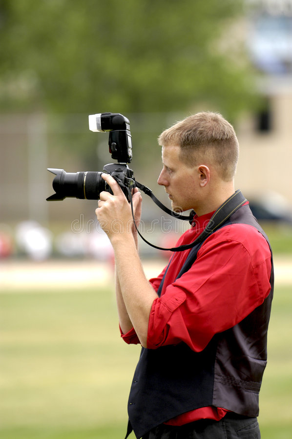 De Fotograaf van sporten stock foto's
