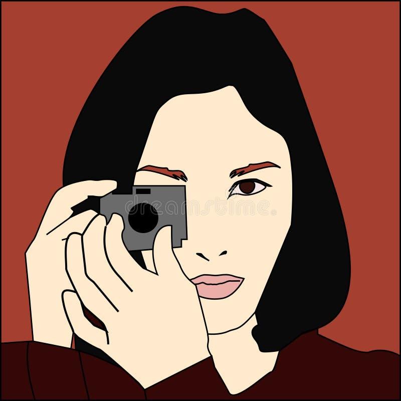 De fotograaf van de vrouw stock afbeeldingen