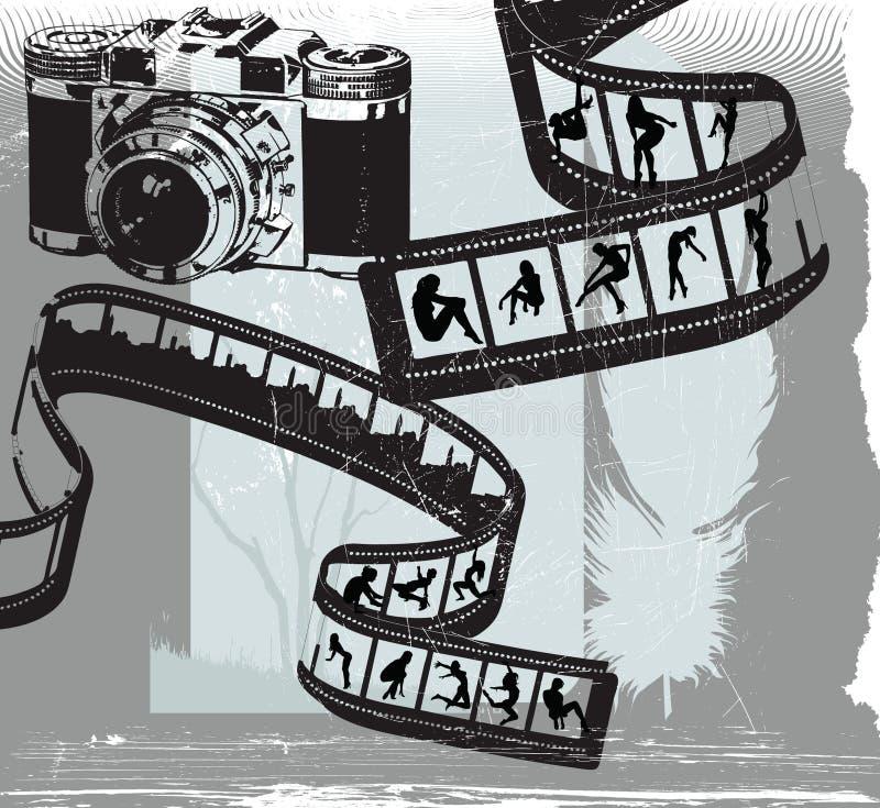 De fotografen beplakken stock illustratie