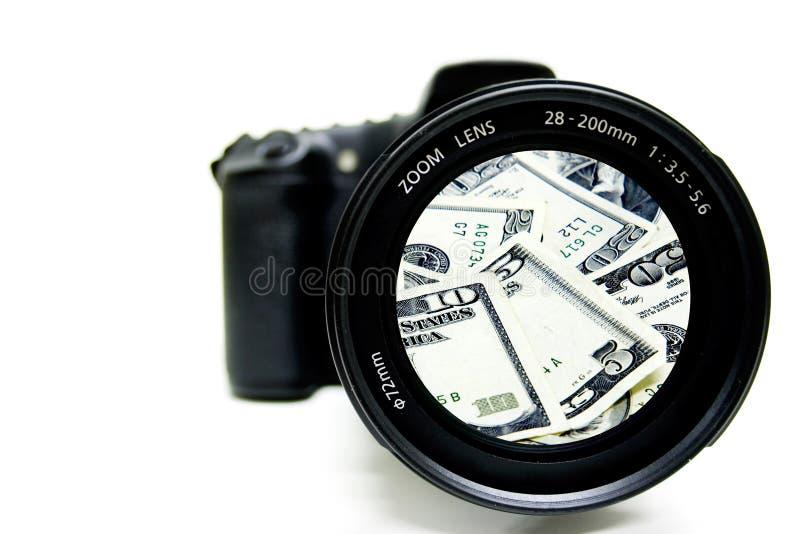 De Fotografie van het contante geld stock afbeeldingen