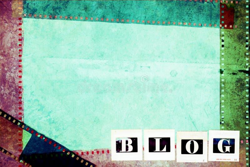 De fotografische achtergrond van het blogconcept royalty-vrije stock foto's