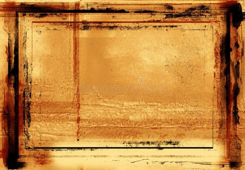 De fotografische grens van Grunge stock illustratie