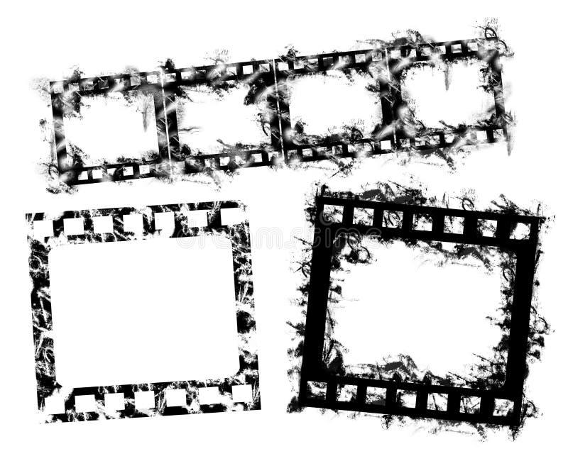 De fotogrens van Grunge, 35 mmfilm royalty-vrije illustratie