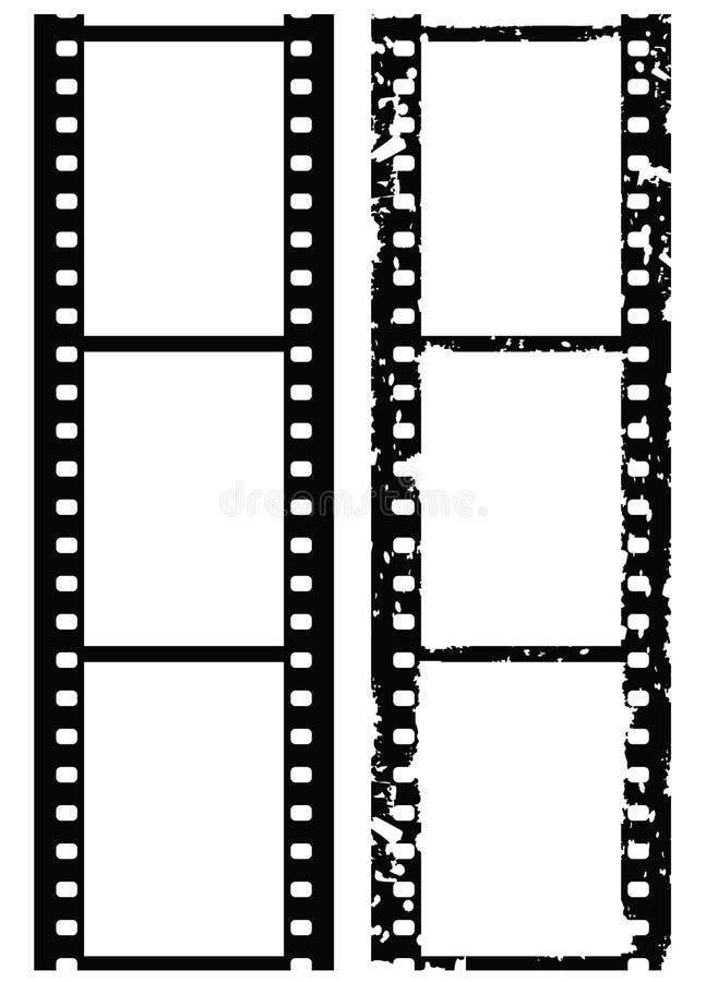 De fotogrens van Grunge, 35 mmfilm, vector royalty-vrije illustratie