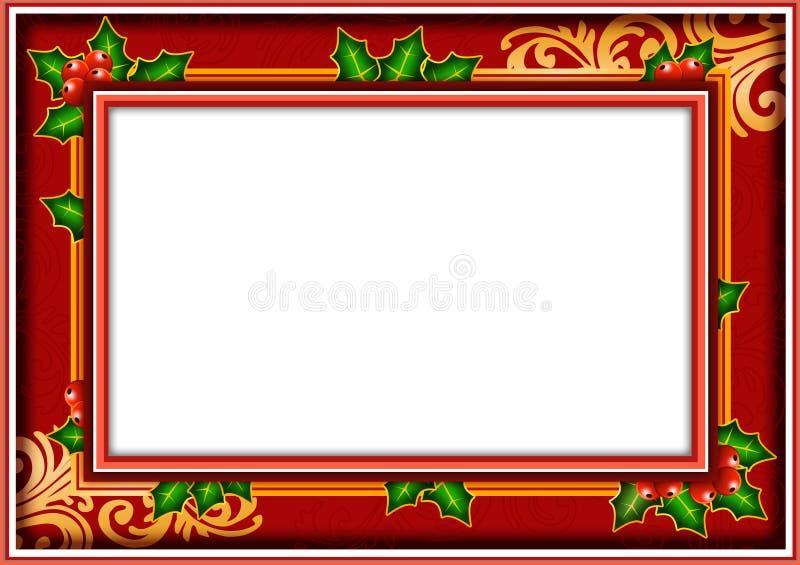 De fotoKerstmis van het frame stock illustratie