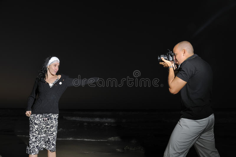 De fotozitting van de nacht royalty-vrije stock foto's