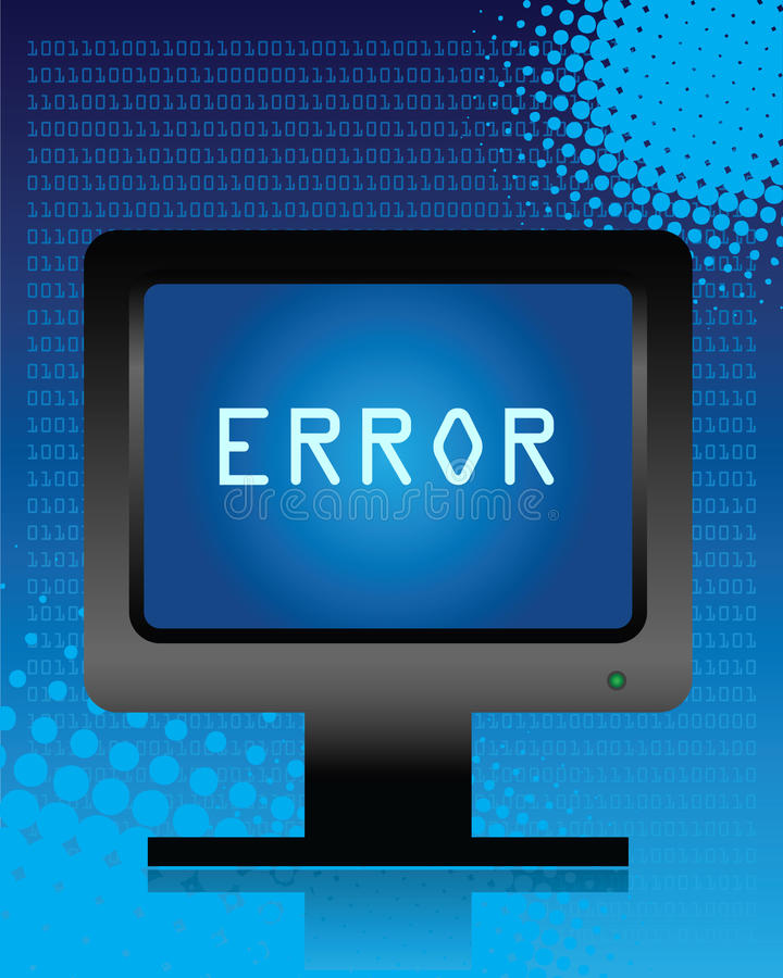 De fout van de computer royalty-vrije illustratie
