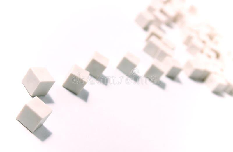 De fragmentatie van kubussen royalty-vrije stock afbeeldingen