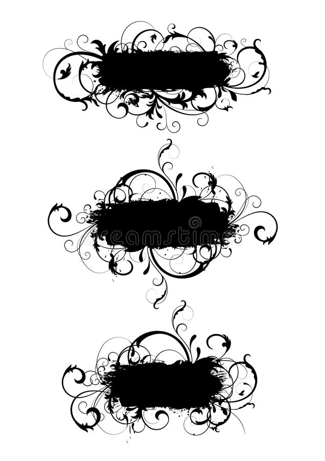 De frames van Curvy vector illustratie