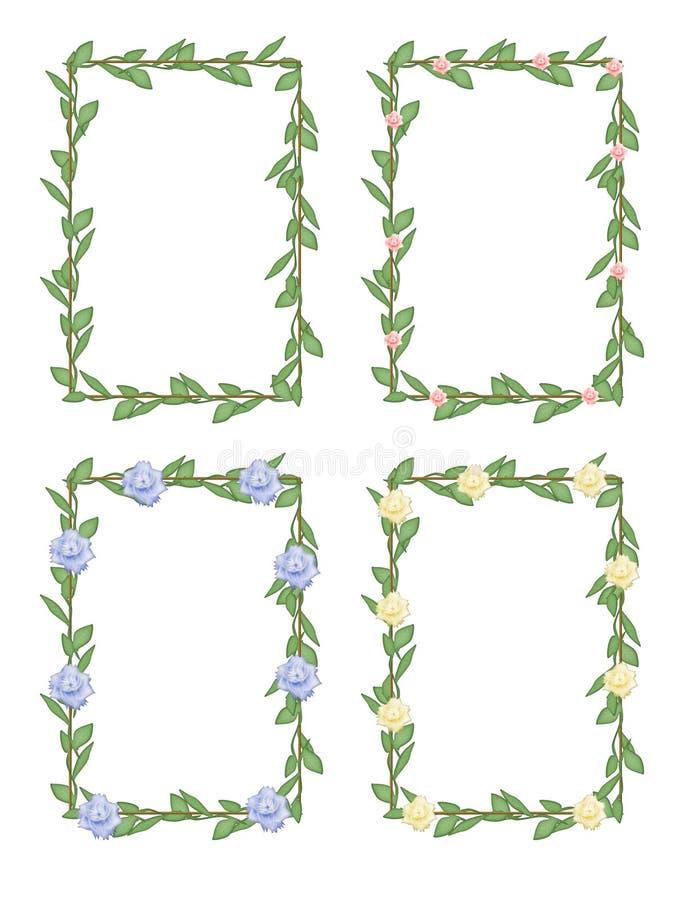 De frames van de bloem royalty-vrije illustratie