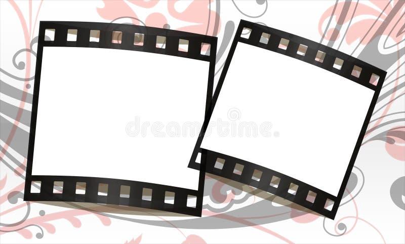 De frames van de film achtergrond royalty-vrije illustratie