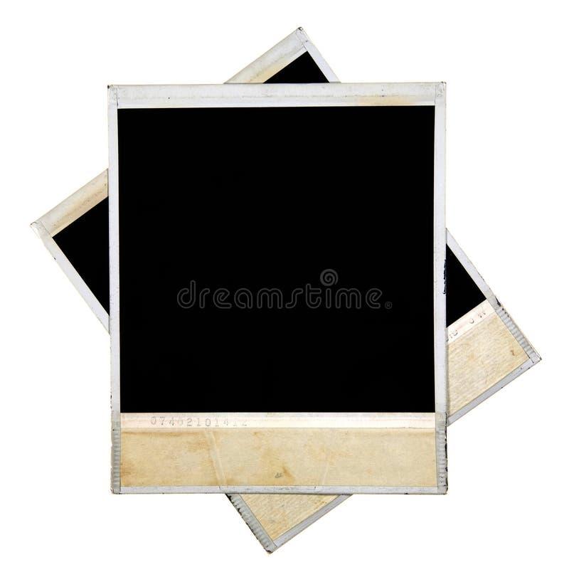 De Frames van de foto die op Wit worden geïsoleerda stock foto's