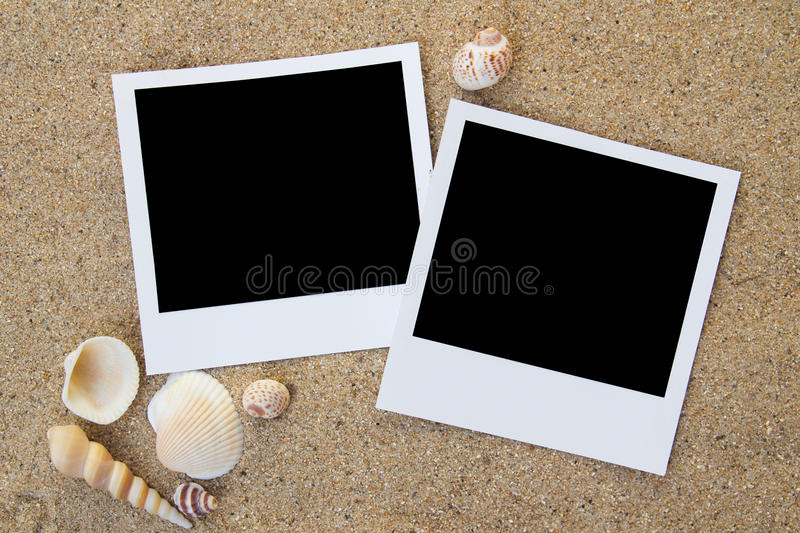 De frames van de het strandfoto van de zomer royalty-vrije stock foto's