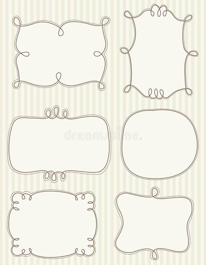 De frames van de krabbel vector illustratie
