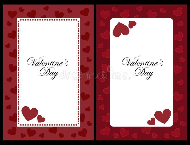 De frames van de valentijnskaart royalty-vrije illustratie