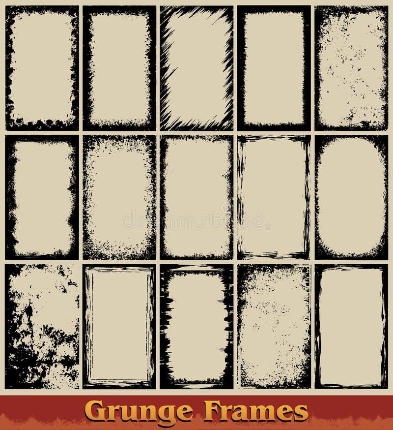 De Frames van Grunge stock illustratie