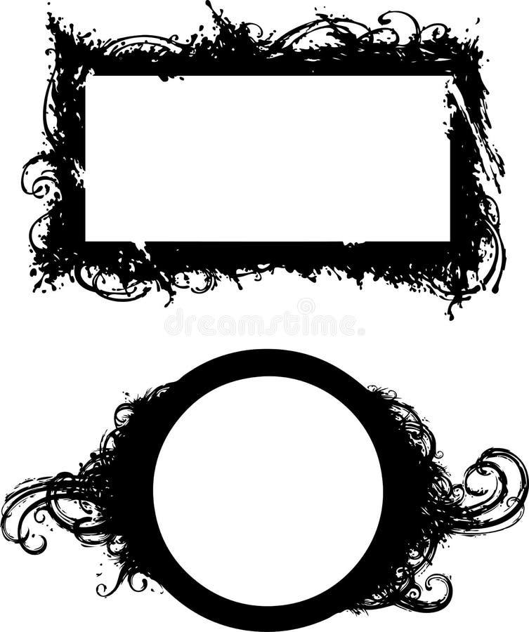 De frames van Grunge vector illustratie