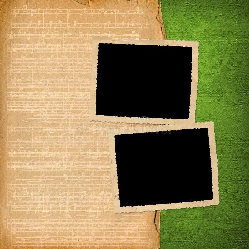 De frames van Grunge van oude documenten royalty-vrije illustratie