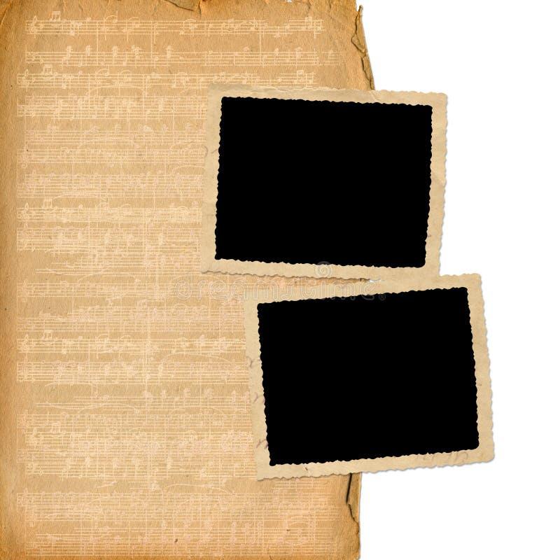 De frames van Grunge van oude documenten stock illustratie