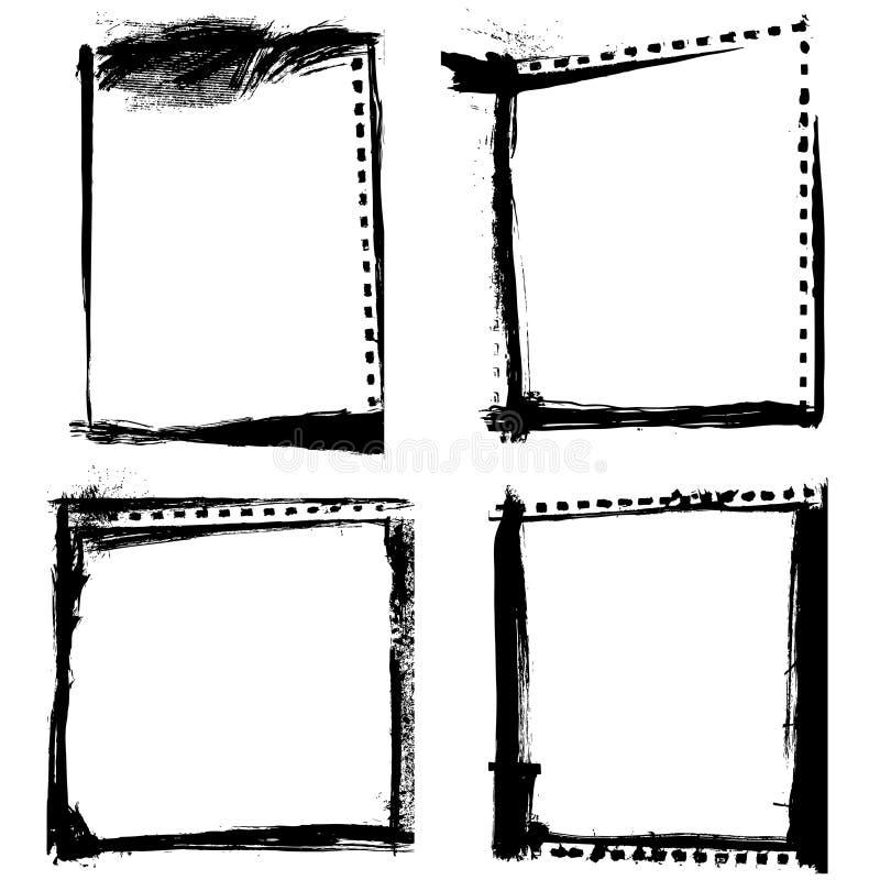 De frames van Grunge vector stock illustratie
