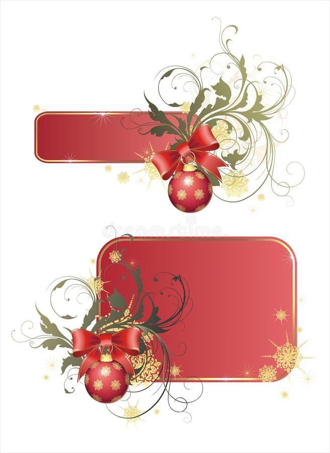 De frames van Kerstmis stock illustratie