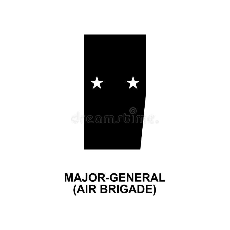 De Frans belangrijk algemeen militair rangen van de luchtbrigade en insignes glyph pictogram stock illustratie