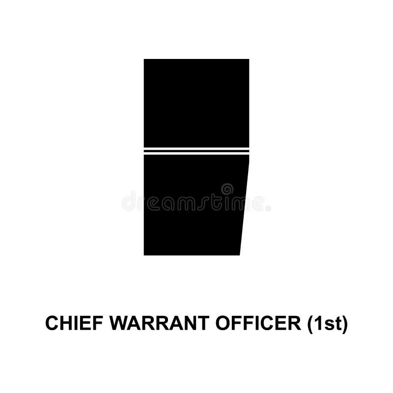 De Frans belangrijkst 1st militair rangen van de waarborgambtenaar en insignes glyph pictogram vector illustratie