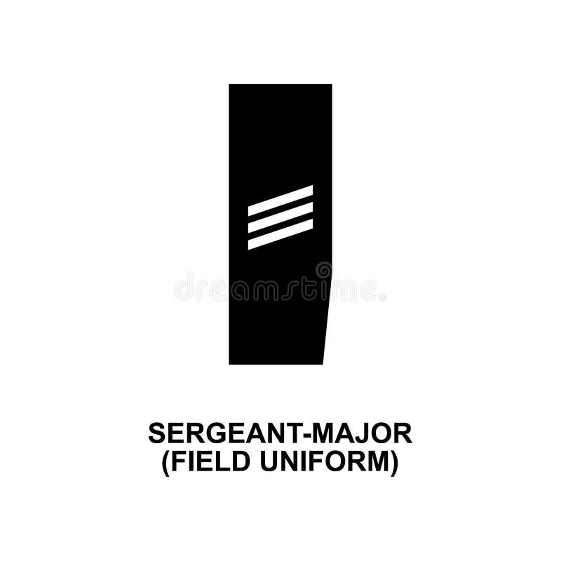 De Frans eenvormig militair rangen van het sergeant belangrijk gebied en insignes glyph pictogram stock illustratie