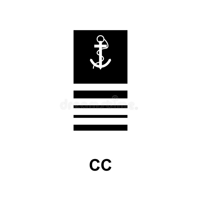 De Frans militair rangen van CC en insignes glyph pictogram royalty-vrije illustratie