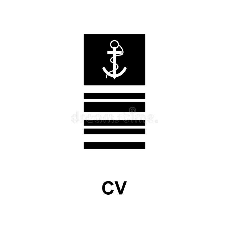 De Frans militair rangen van cv en insignes glyph pictogram vector illustratie