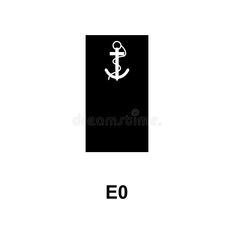 De Frans militair rangen van e0 en insignes glyph pictogram vector illustratie