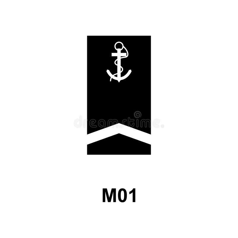 De Frans militair rangen van m01 en insignes glyph pictogram vector illustratie