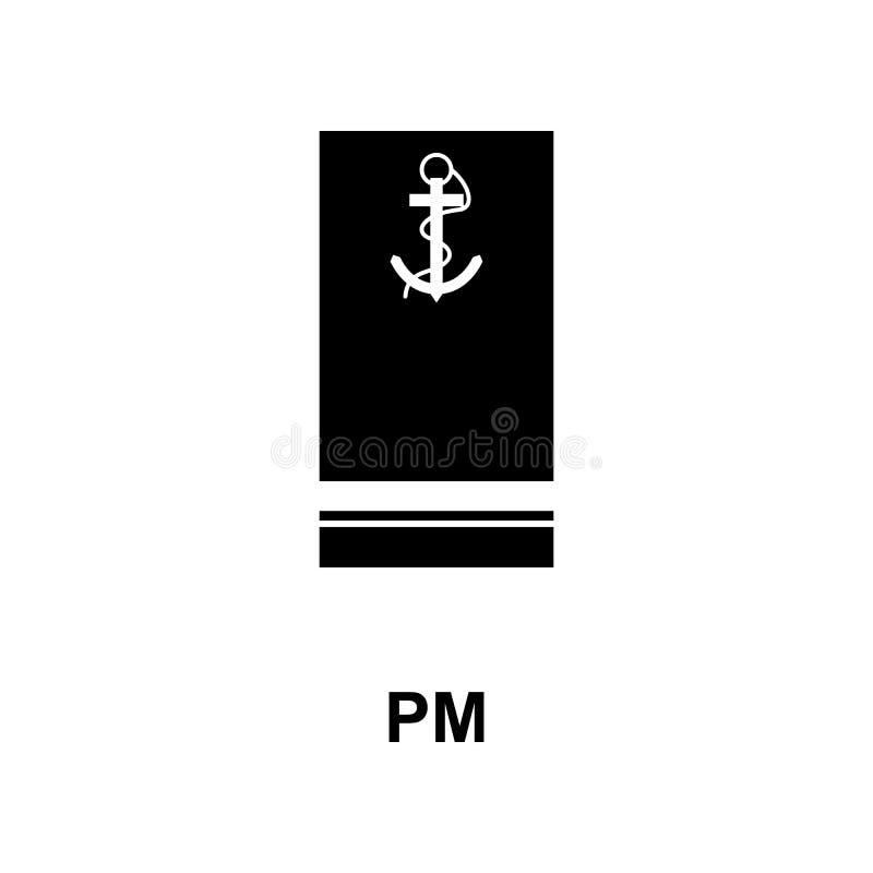 De Frans militair rangen van p.m. en insignes glyph pictogram stock illustratie