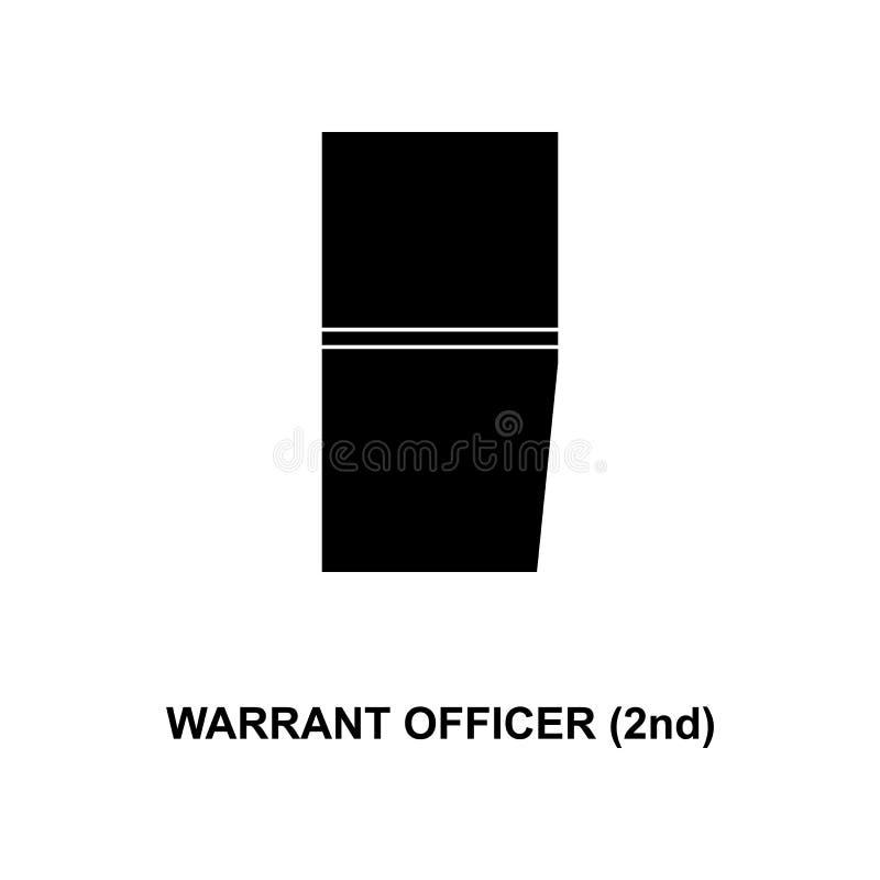 De Frans 2de militair rangen van de waarborgambtenaar en insignes glyph pictogram vector illustratie