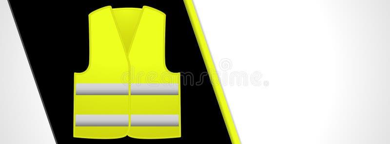De Franse gele banner van vestsleutelwoorden royalty-vrije illustratie