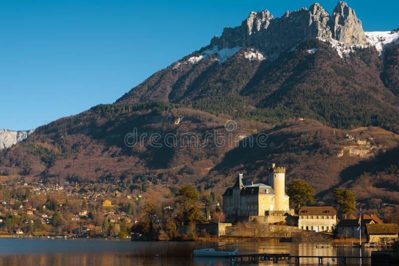 De Franse Horizontale Alpen van het kasteel stock foto's