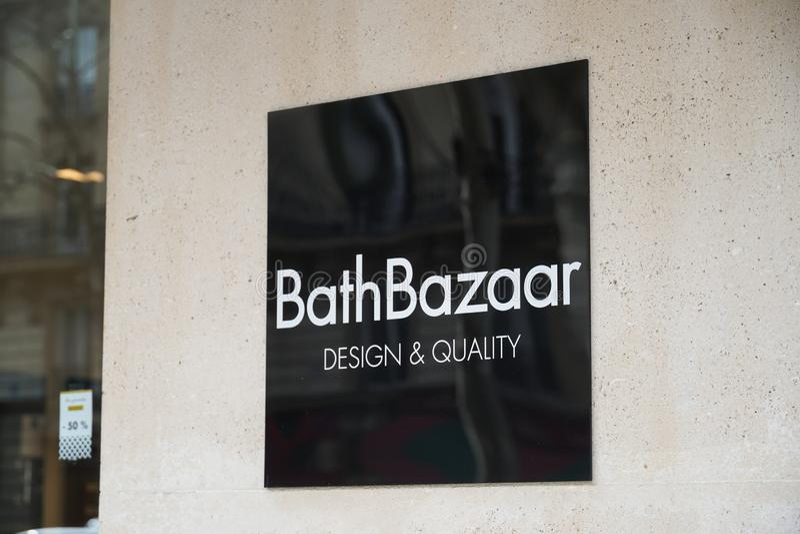 De Franse opslag van de Badbazaar stock afbeelding