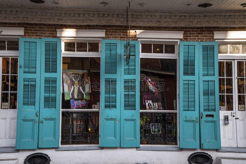 De Franse winkel van de Kwartengift royalty-vrije stock afbeeldingen