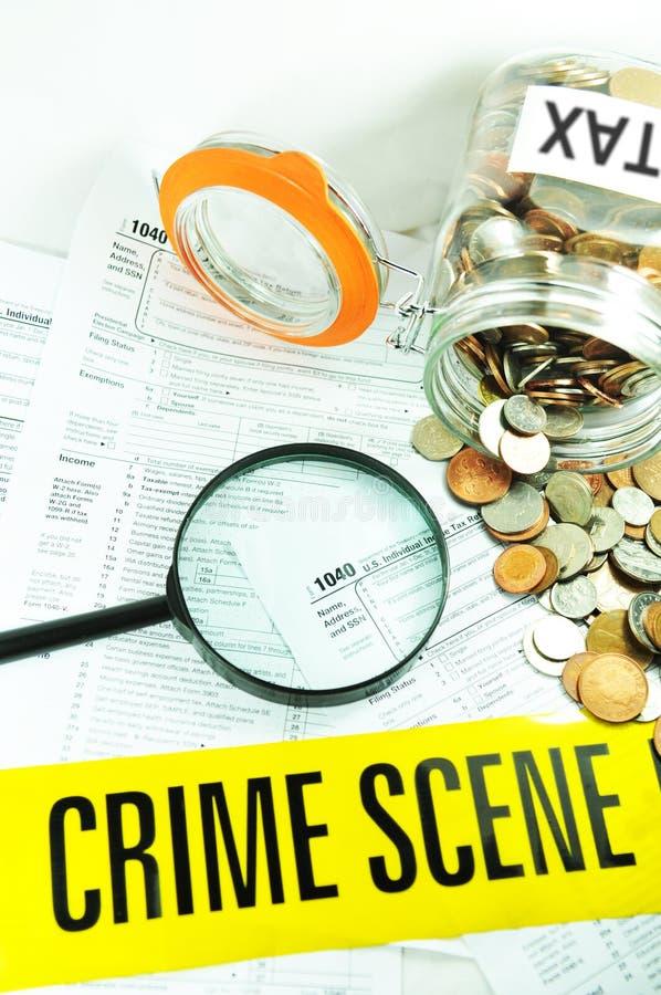 De fraude van de belasting royalty-vrije stock afbeelding