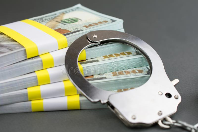 De Fraudeconcept van de financi?le criminaliteitkaart stock afbeeldingen