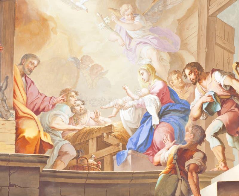 De fresko ochsenhausen stock fotografie