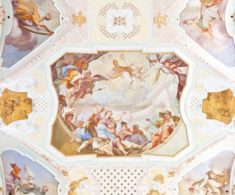 De fresko ochsenhausen royalty-vrije stock afbeelding