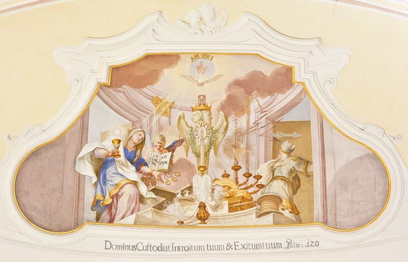 De fresko ochsenhausen royalty-vrije stock foto's