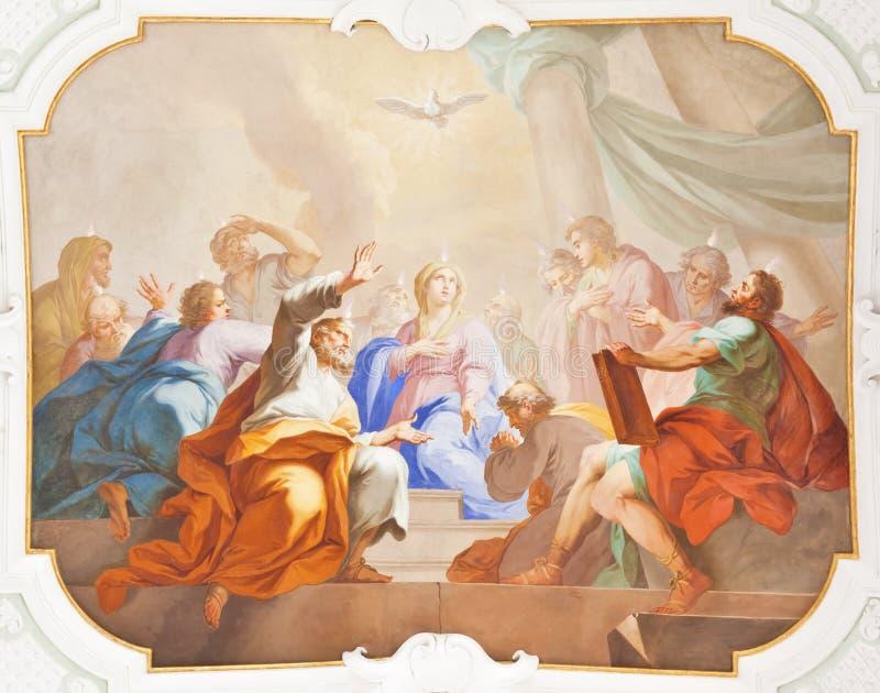 De fresko ochsenhausen stock foto