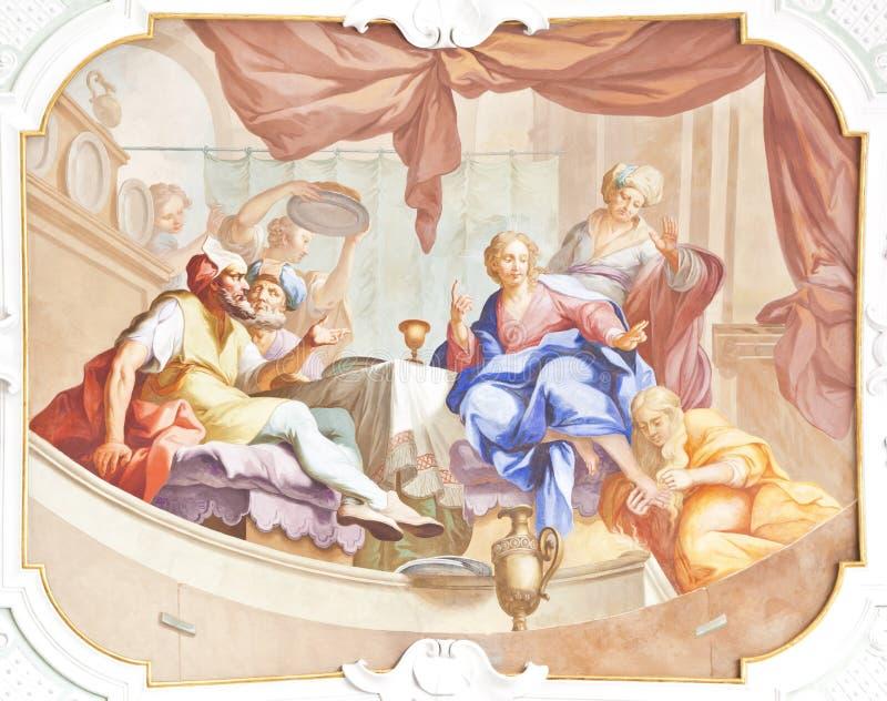 De fresko ochsenhausen royalty-vrije stock fotografie