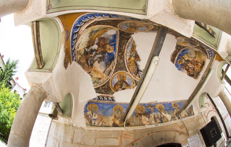 De fresko's in het klooster in Bulgarije Bachkovski royalty-vrije stock foto