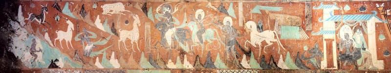 De Fresko's van Dunhuanggrotten royalty-vrije stock afbeeldingen